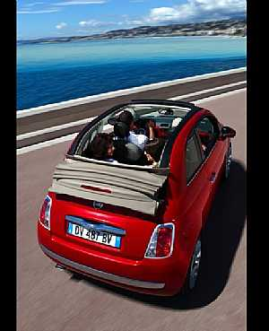 Fiat 500C from back Kaborlah