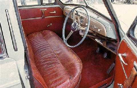 std 1951 morris six saloon interior max