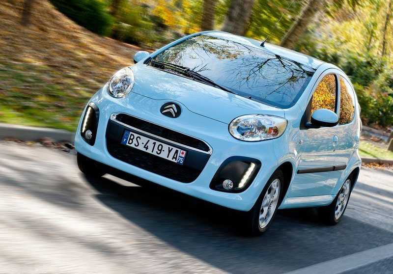 Citroen c1 from front in way