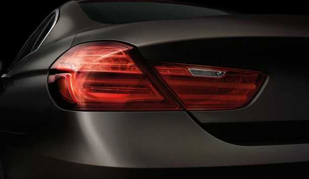 back light in BMW 6 Series Gran Coupe