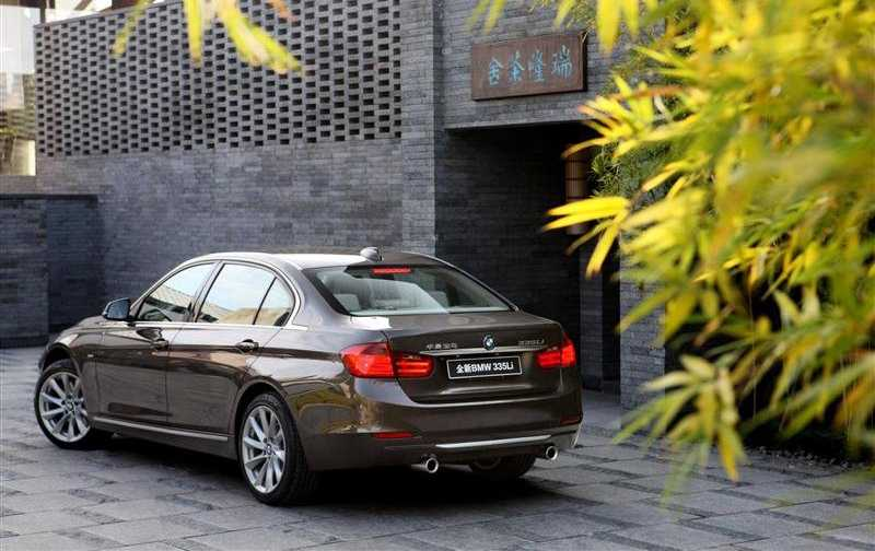 BMW 3 Series Long Wheelbase from back side