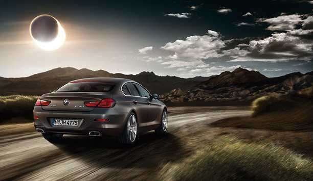 BMW 6 Series Gran Coupe from back look in the way