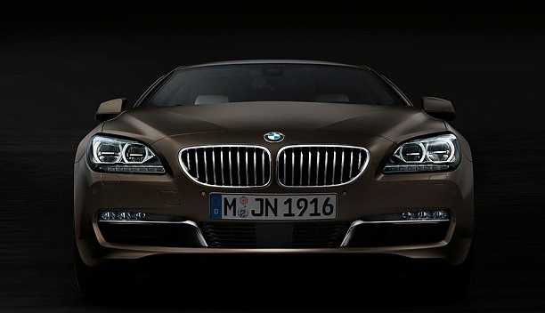 BMW 6 Series Gran Coupe from front light