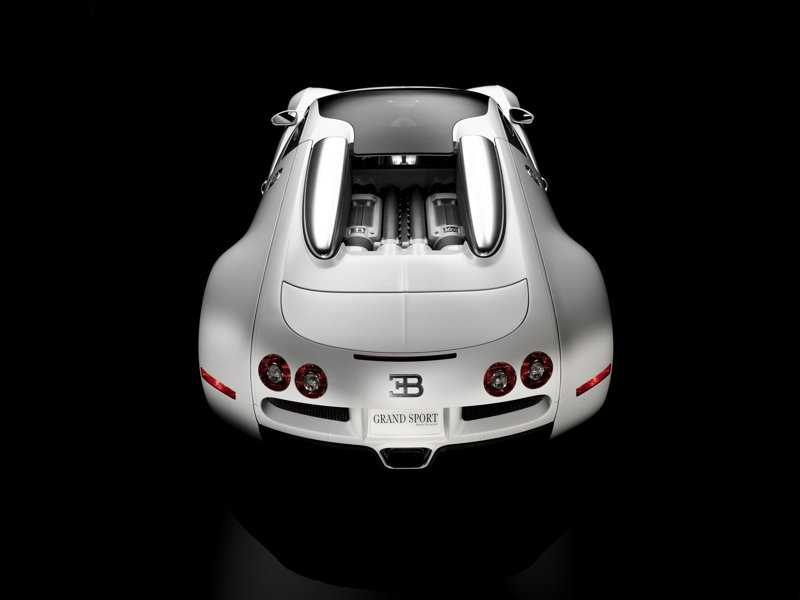 Bugatti from back view