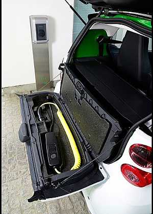charger part in Smart Fortwo electric drive