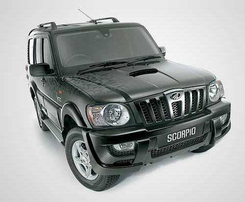 Mahindra black from front