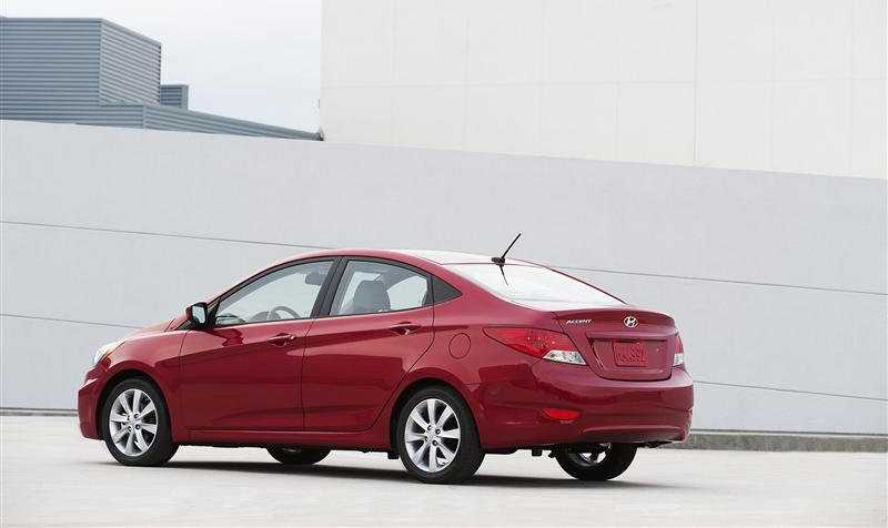 Hyundai Accent from side back