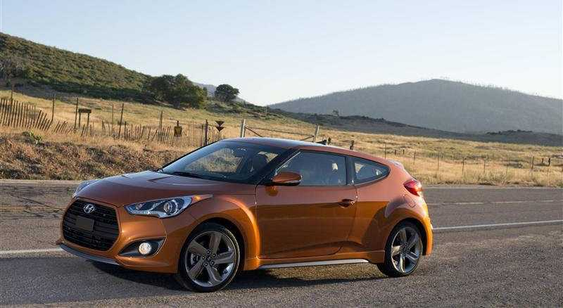 Hyundai Veloster Turbo from back side