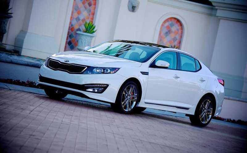 Kia Optima from front