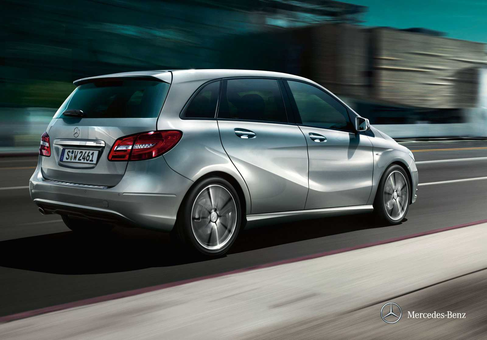 mercedes benz b class from back on the way