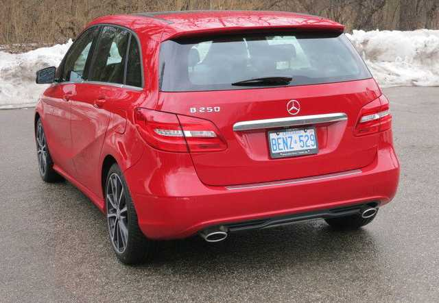 mercedes benz b class from back side