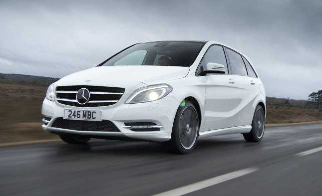 mercedes benz b class front on the way