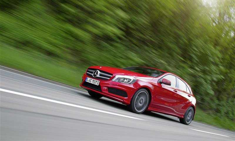 test Mercedes Class A on the way